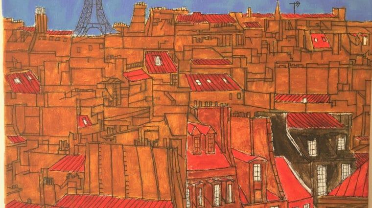 Artwork of Paris Cityscape