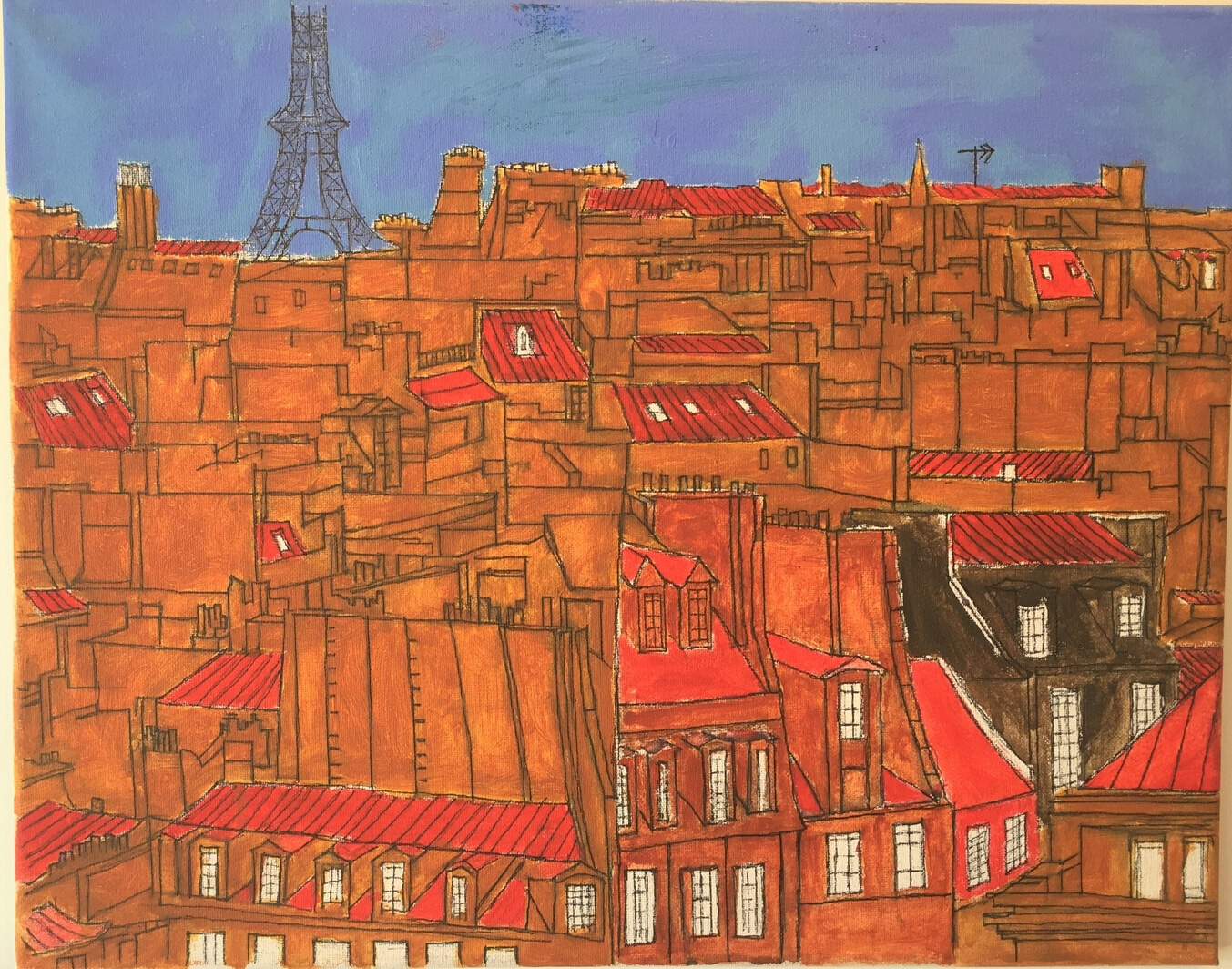 Artwork of Paris Cityscape